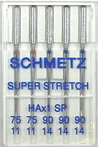 Schetz - Juego de agujas para máquina de coser (75 y 90): Amazon ...