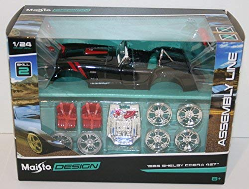 (Maisto 1/24 Scale 39302 - 1965 Shelby Cobra 427 - Assembly Line Metal Kit)