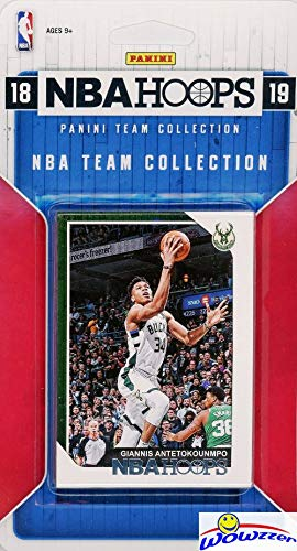 Milwaukee Bucks 2018/2019 Panini Hoops NBA Basketball EXCLUSIVE Factory Sealed Limited Edition 9 Card Team Set with GIANNIS ANTETOKOUNMPO, Khris Middleton, Eric Bledsoe & Many More! WOWZZER!