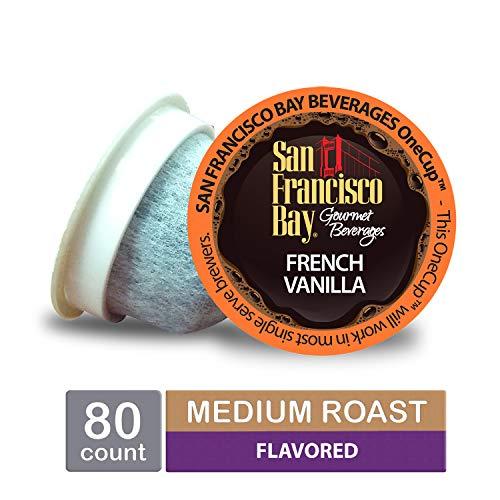 San Francisco Bay OneCup, French Vanilla, Single Serve Coffee K-Cup Pods (80 Count) Keurig Compatible