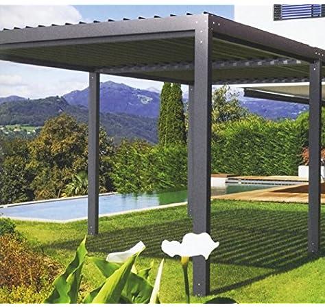 NAO - Pérgola bioclimática clásica (7 x 3 m): Amazon.es: Jardín