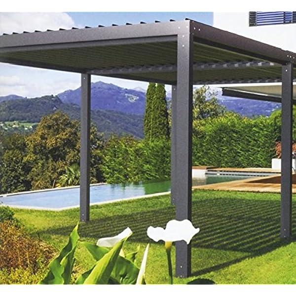 NAO - Pérgola bioclimática clásica (6 x 4 m): Amazon.es: Jardín