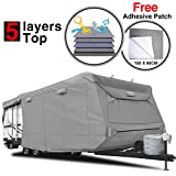 RVMasking Heavy Duty 5 Layers Travel Trailer RV Cover, Fits 31'7