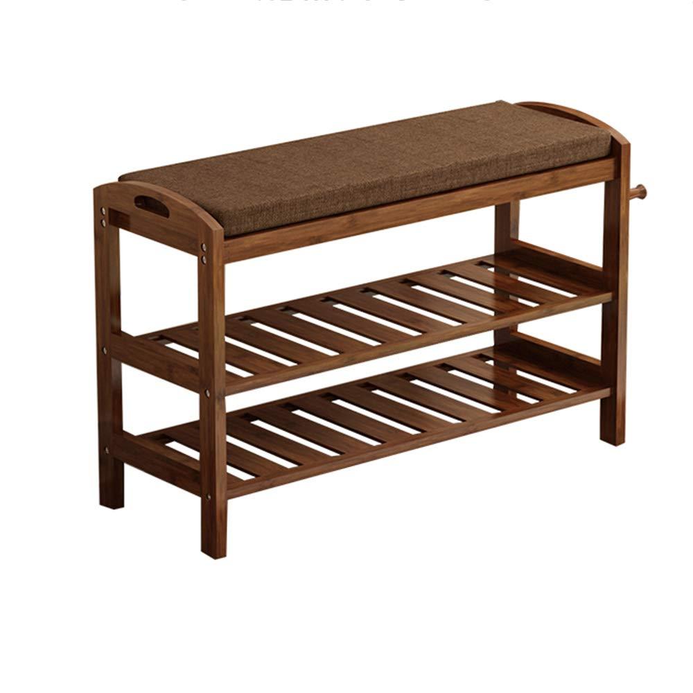 ZR- 靴ラック、木製の生活竹の靴のキャビネットベンチ、3つの棚と竹の靴ラック、ホール、バスルーム、リビングルーム、廊下に最適 (色 : 80cm) B07HKQ9K6B 80cm