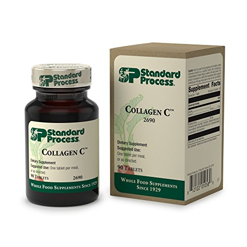 Standard Process - Collagen C - Whole Food Supplement Source of Antioxidant Vitamin C, Supports Immune System and Healthy Connective Tissue - 90 Tablets -  2690