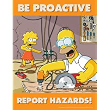 Be Proactive Report Hazards - Simpsons Hazard Reporting Safety Poster