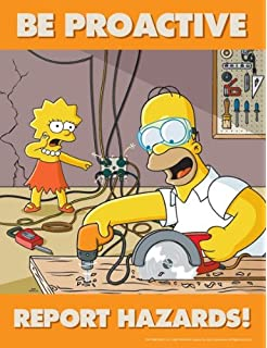 Simpsons Hazard Reporting Safety Poster