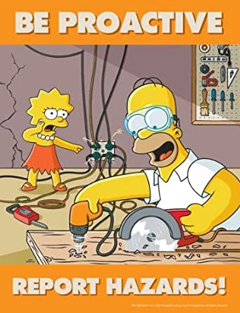 Simpsons Hazard Reporting Safety Poster - Be Proactive ...