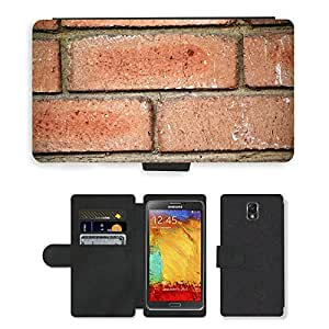 PU LEATHER case coque housse smartphone Flip bag Cover protection // M00152077 Ladrillos Pared de piedra Telón de // Samsung Galaxy Note 3 III N9000 N9002 N9005