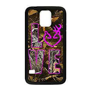 Browning Deer Camo for Samsung Galaxy S5 Case Cover 033116 Rubber Sides Shockproof Protection with Laser Technology Printing Matte Result