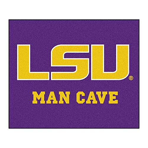 5'x6' NCAA LSU Tigers Mat Sports Football Area Rug Team Logo Printed Large Mat Floor Carpet Bedroom Living Room Tailgate Man Cave Home Decor Athletic Game Fans Gift Non-skid Backing Soft Nylon, Purple