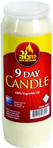 Ner Mitzvah 9 Day Yahrtzeit Candle - Kosher Memorial and Yom Kippur Candle in Plastic Holder