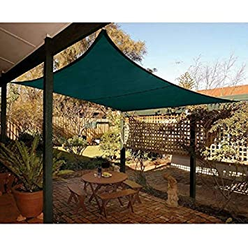 Quictent Rectangle 10×15 Ft Sun Sail Shade Canopy Top Cover Patio Garden W Free Bag- Green