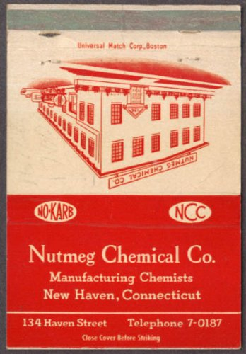 Nutmeg Chemical Company New Haven CT Modern Fuel Conditioners matchcover ()