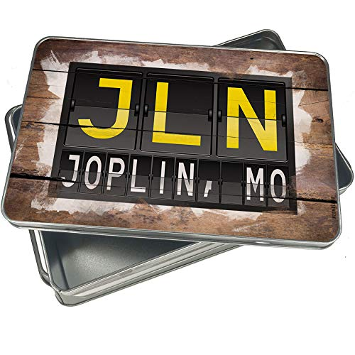 NEONBLOND Cookie Box JLN Airport Code for Joplin, MO Christmas Metal Container ()