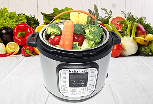 Steamer Basket Accessories For Instant Pot 6 & 8 quart - Sturdy Stainless Steel IP InstaPot Insert And Stainer - Silicone Handle And Feet For Stability, Protection And Convenience - Easy To Clean by Unique Impression (Image #5)