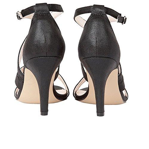 Sandalias De Tiras De Shimmer Negro Gabby Lotus 5