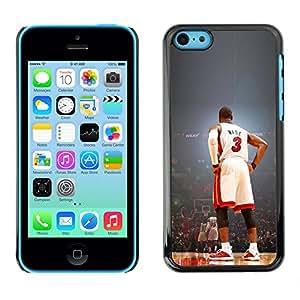 Wade 3 Baloncesto - Metal de aluminio y de plástico duro Caja del teléfono - Negro - iPhone 5C
