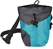 Navaris Chalk Bag for Rock Climbing - Bag for Chalk and Magnesium Carbonate with Drawstring and Pocket - for B