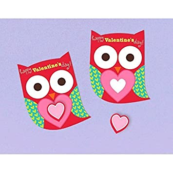 Amazon Com Owl Valentine Cards With Erasers 12 Pack Beauty