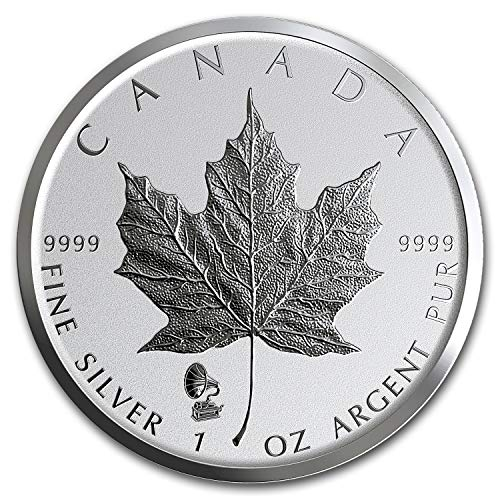 2019 CA Canada 1 oz Silver Maple Leaf Edison Phonograph Privy 1 OZ Brilliant Uncirculated