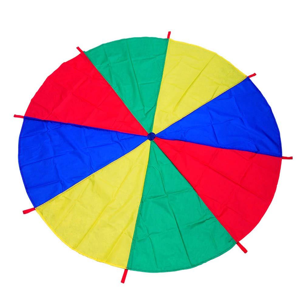 canghai Sports Multi-Colored Children's Team Building Parachute Rainbow Parachute Toy Tent for Children Gymnastic( L )