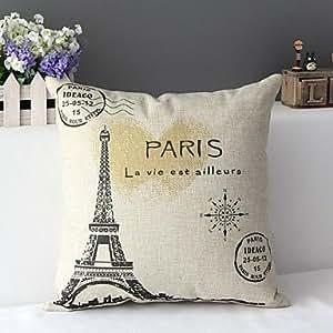 L & h-home textil Amor minimalista clásico para Effiel Torre decorativa almohada cubierta