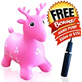 ToysOpoly Inflatable Bouncer Seat - Best for Physical Therapy, Increase Balance and Agility, Eco-Friendly + Free Hand Pump, Easy to Inflate (Pink)