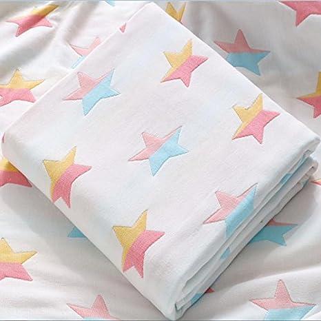 KK&MM Toalla de baño para recién nacido (algodón y gasa, agua súper suave,