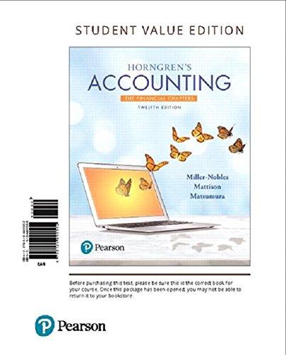 Horngren's Acct.,Fin.Chap.(Ll) W/Access