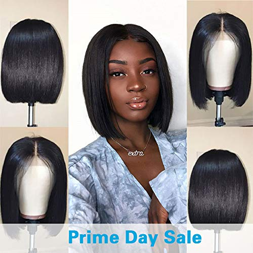 (Jaja Hair Short Bob Wigs Brazilian Virgin Hair Straight Bob Wigs Lace Front Human Hair Wigs For Black Women Remy Hair Wigs 8 Inches)