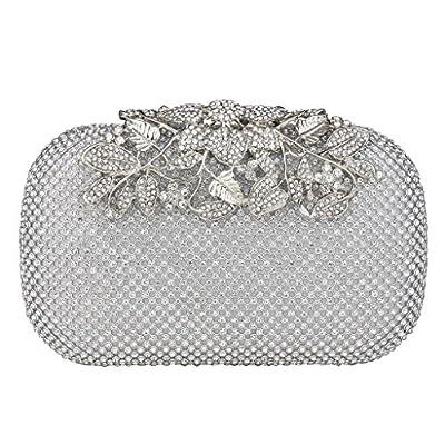 ILILAC Flower Clutch Purse Crystal Evening Handbags