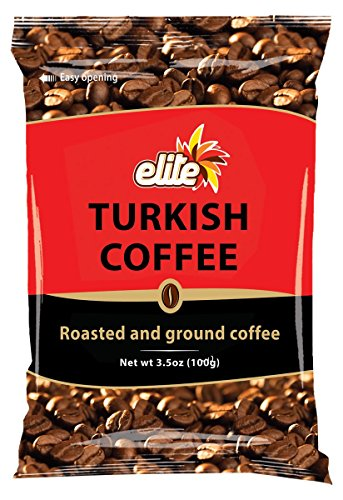 Elite Turkish Ground Roasted Coffee Bag, 3.5000-ounces – PACK OF 40
