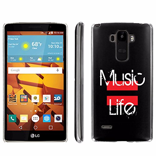 [ArmorXtreme] Phone Case for LG G Stylo LS770 / LG G4 Note Stylus / LG G Stylo H631 / MS631 [Clear] [Ultra Slim Cover Case] - [Music = Life] -  ArmorXtreme for LG G Stylo H631