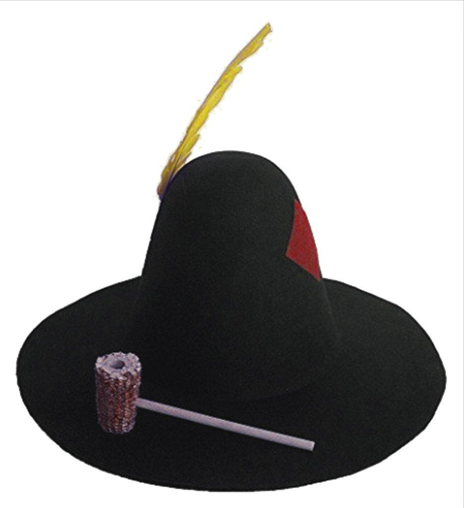 Felt Hillbilly Hat with Corncob Pipe