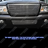 2006-2012 Ford Ranger Billet Grille Grill Combo Upper+Lower Insert # F87912A
