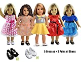 "5PC Lots Doll Clothes for 18"" Dolls American Girl Dolls"