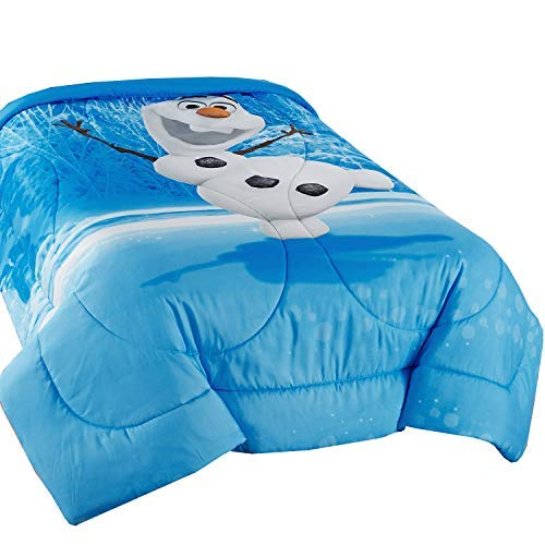 Disney Frozen Olaf Made of Snow Microfiber Reversible Comforter, Twin