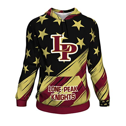 NUMBERS ATHLETICS Hoodie- The Patriot Lone Peak Knights Utah High School