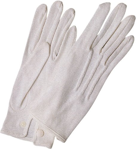 [White Stitched Cotton Gloves-Pair (Small)] (Clown Accessories)