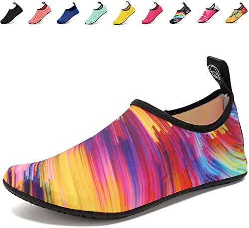 CIOR Lightweight Aqua Socks Quick-Dry Water Shoes Mutifunctional Barefoot For Beach Pool Surf Yoga Exercise