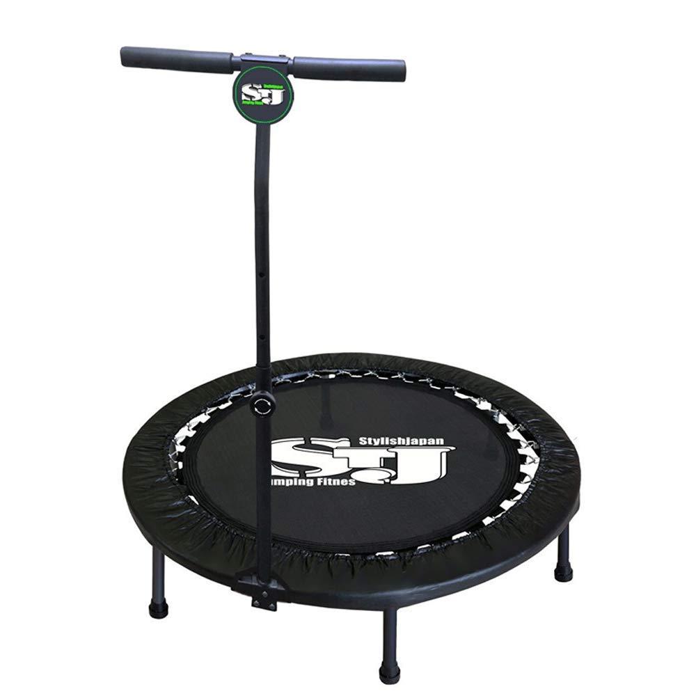 Fitness-Trampolin - Fitness-Gewichtsverlust-Trampolin-Übung mit Armlehnen Hüpfbett Erwachsener Innenhübe Hüpfbett Haushalt Kinder Trampolin Falten (Belastung: 150 kg)