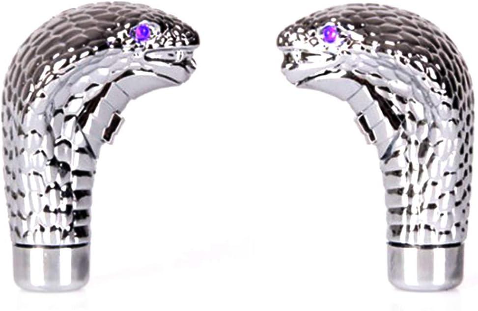 Asdomo Pommeau de levier de vitesse manuel universel en forme de serpent avec lumi/ères LED