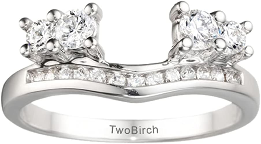 Size 3 to 15 in 1//4 Size Intervals 0.73Ct Sterling Silver Mens Wedding Ring Cubic Zirconia