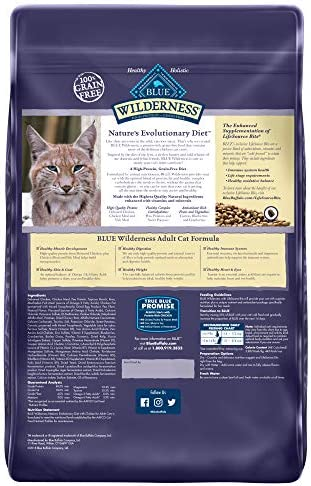 Blue Buffalo Wilderness High Protein Grain Free, Natural Adult Dry Cat Food, Chicken 3