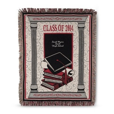 Personalized 2014 Red Graduation Throw ()