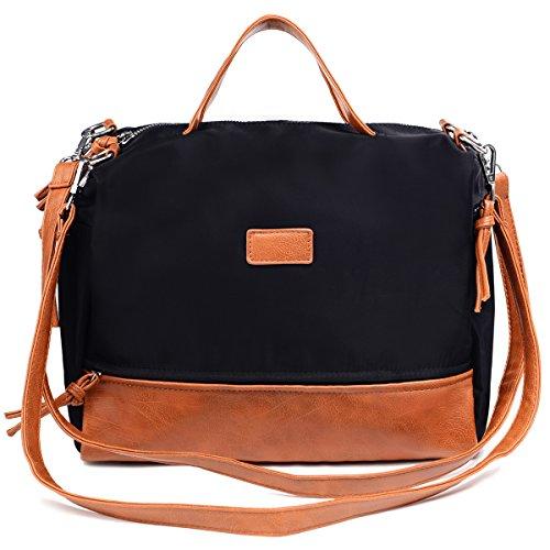 Large Handbag Fashion Shoulder Bag Travel Tote Bag For Women (Brown) by Vintga