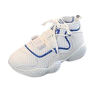 6435e3252d Bluestercool Sneakers pour Fille Garcon, Été Nouveau Mesh Respirant  Chaussures de Course Running Shoes Confortable