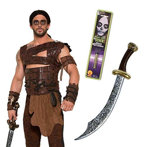 Desert Savage King Sword Makeup Costume Kit (Adult Standard)