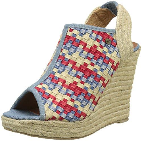 Kaporal Romane - Zapatos Mujer Multicolore (Multicolor Denim)